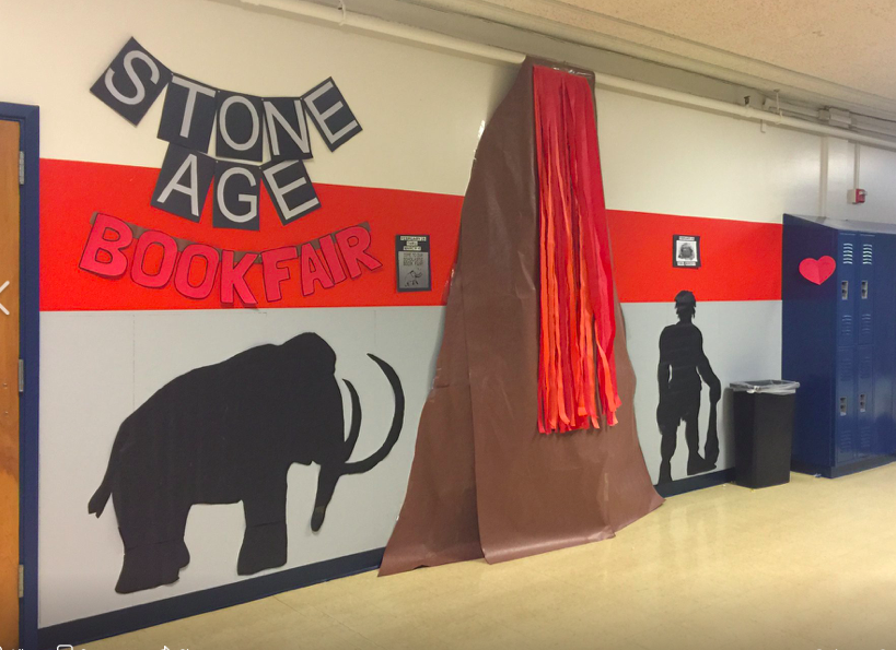 Cedar Park LMA Debbie Hernandez is at it again!  The Stone Age book fair is coming soon!