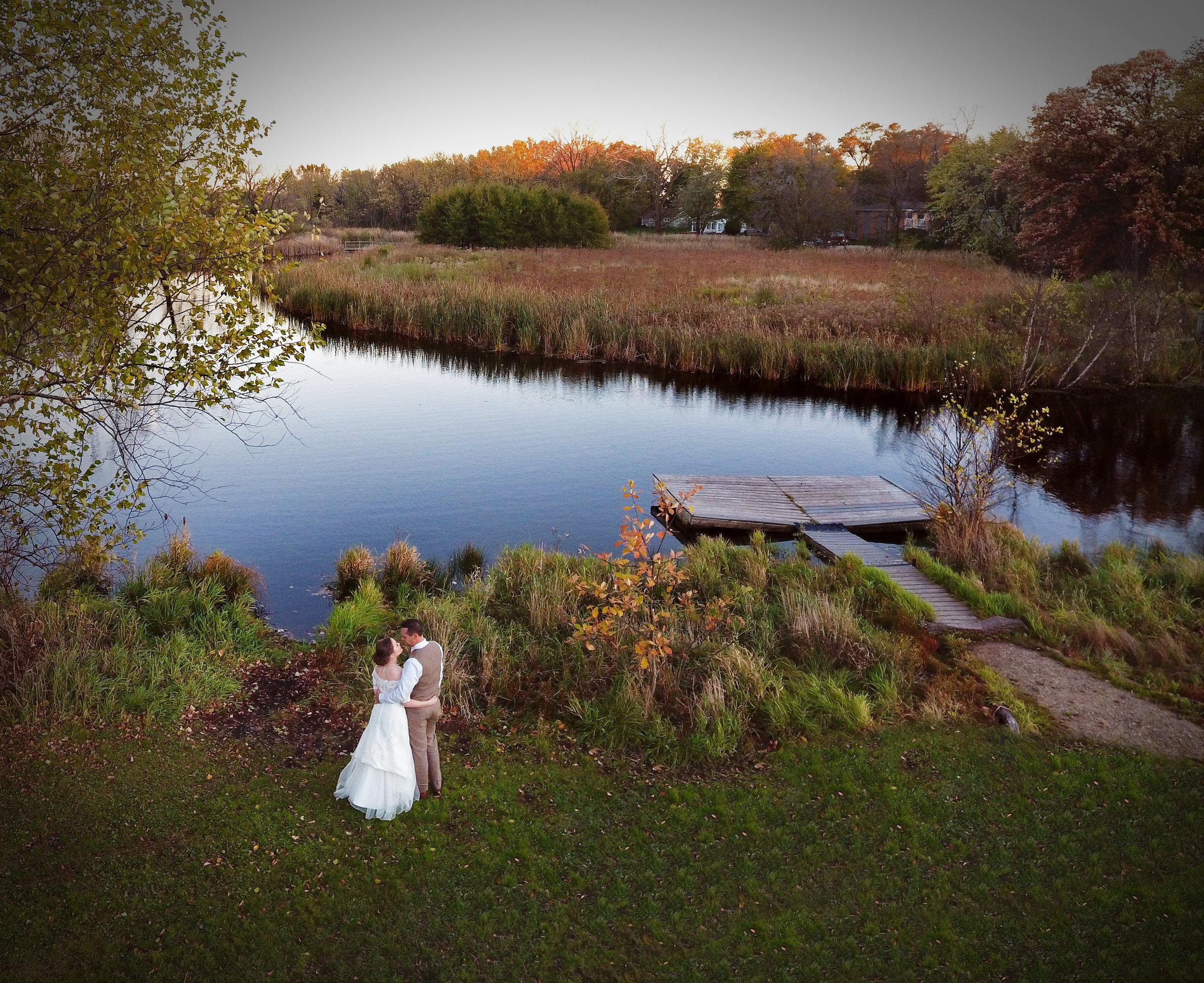 Drone Wedding Photography Madison Wisconsin