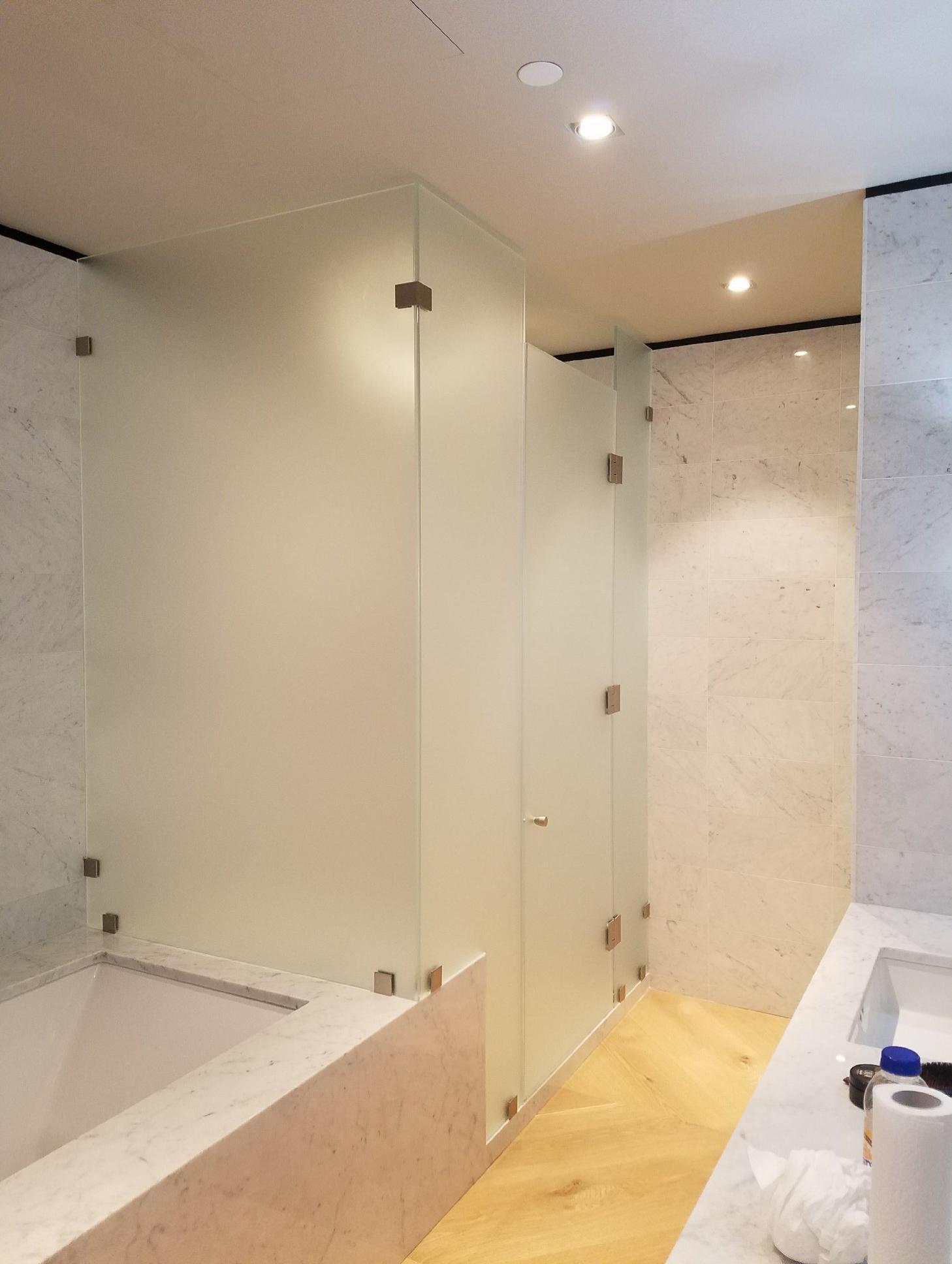 Floor-to-Ceiling Glass Shower Door