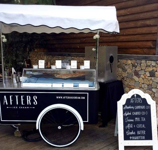 Afters Ice Cream Vintage Catering Cart