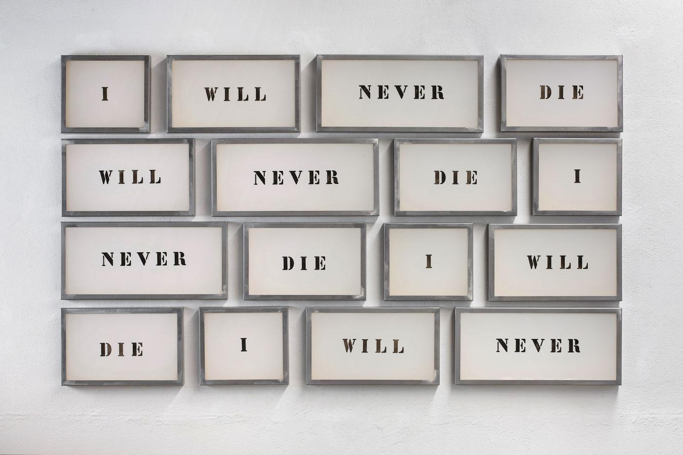 Jordi Tolosa,  I will never die , 2009