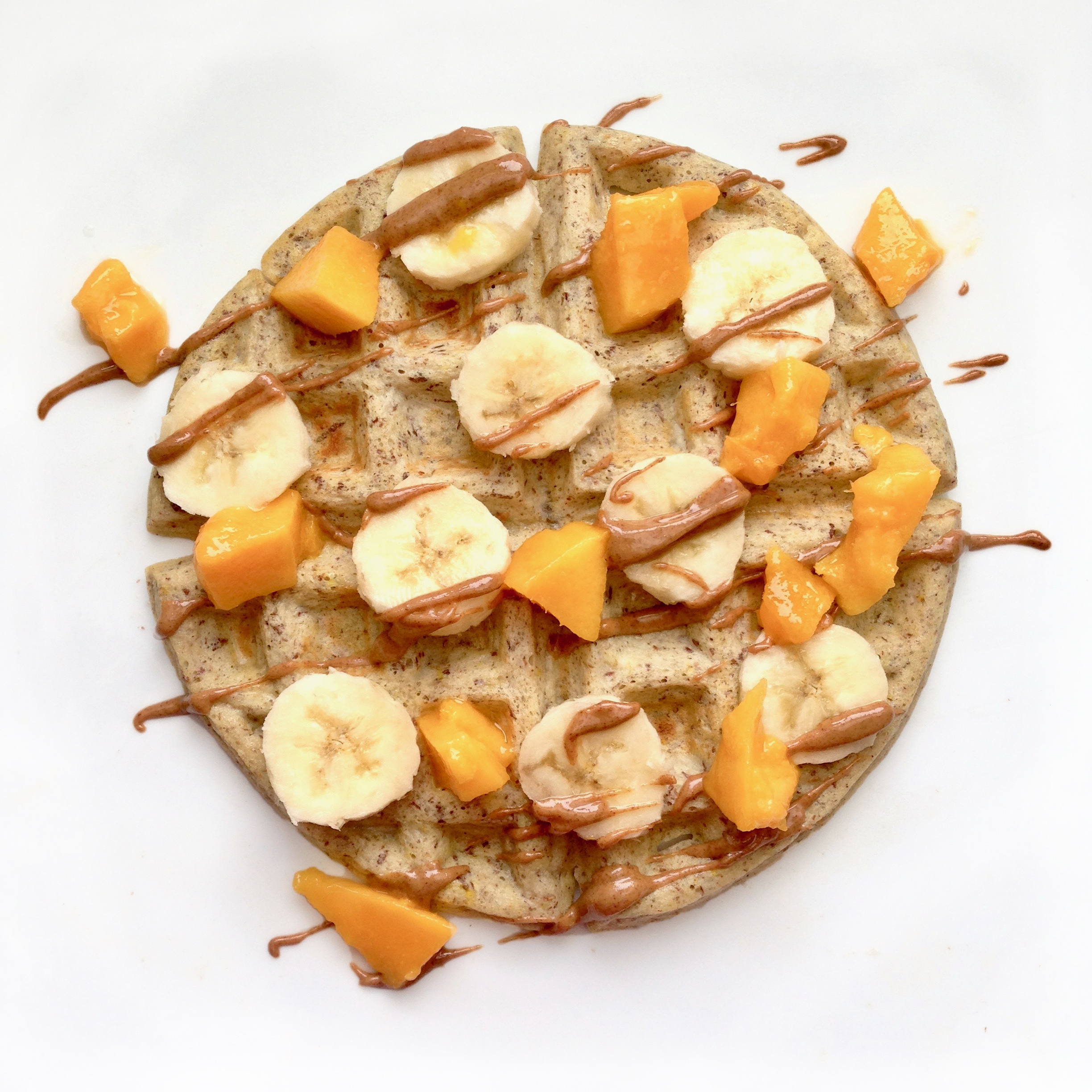 Healthy flourless fiber protein waffles. Only 4 ingredients that will keep you full longer.