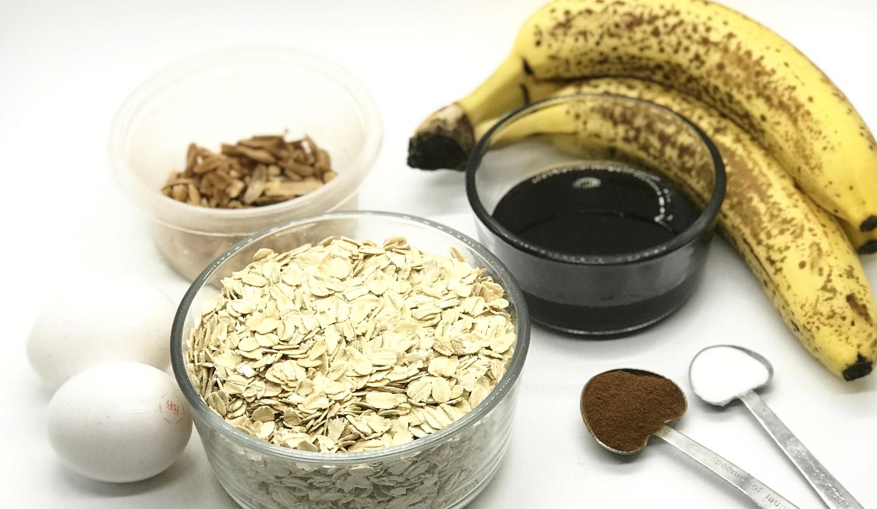 Healthy Cinnamon Almond Banana Bread! No sugar, no flour, no oil, no butter. Moist and delicious.