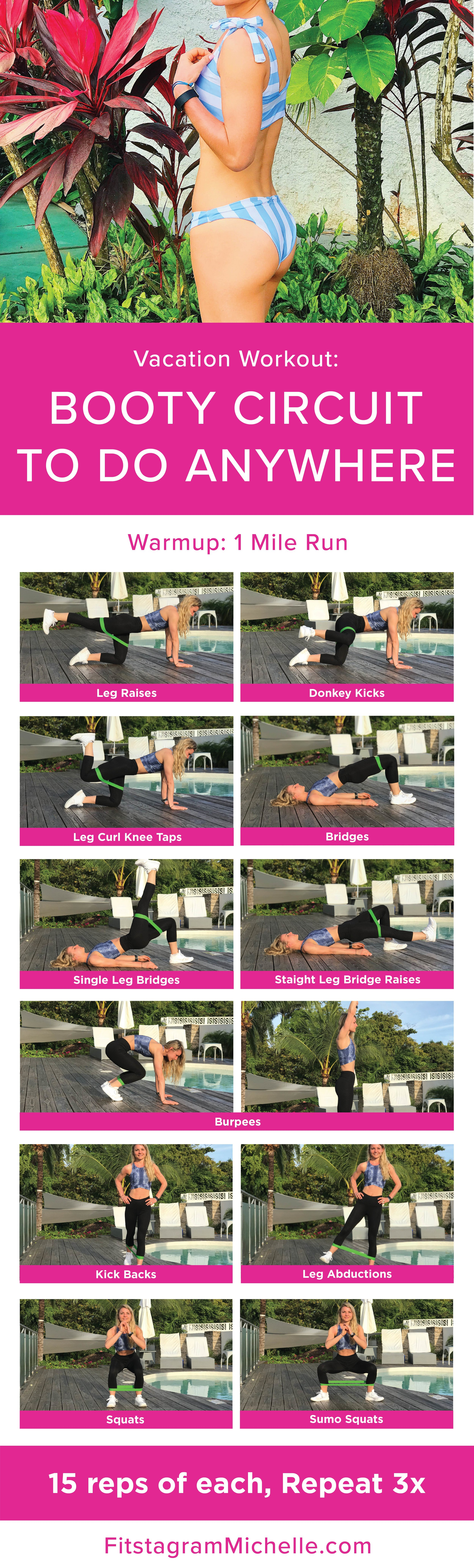 Booty Band Circuit to do on vacation. No equipment needed.