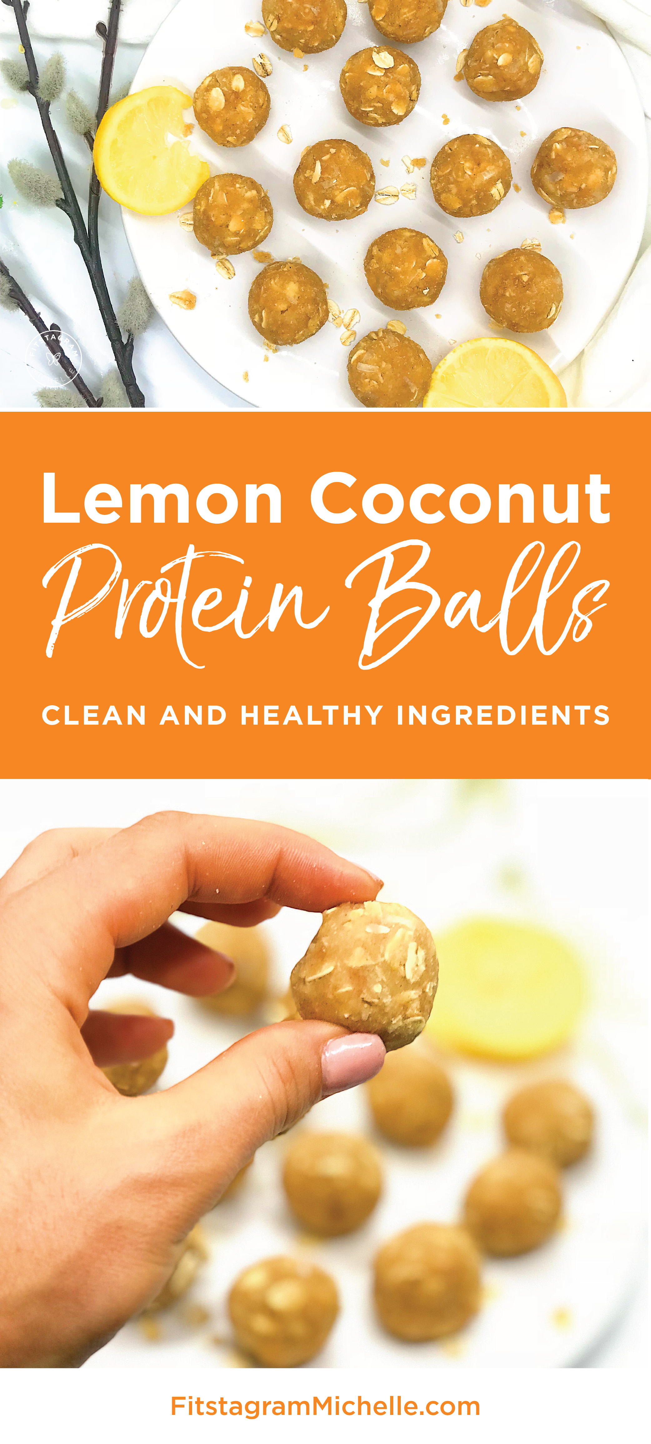 Lemon Coconut Protein Balls makes the most satisfying snack or clean dessert. They are very refreshing and packed with healthy ingredients. No blender needed in this recipe!
