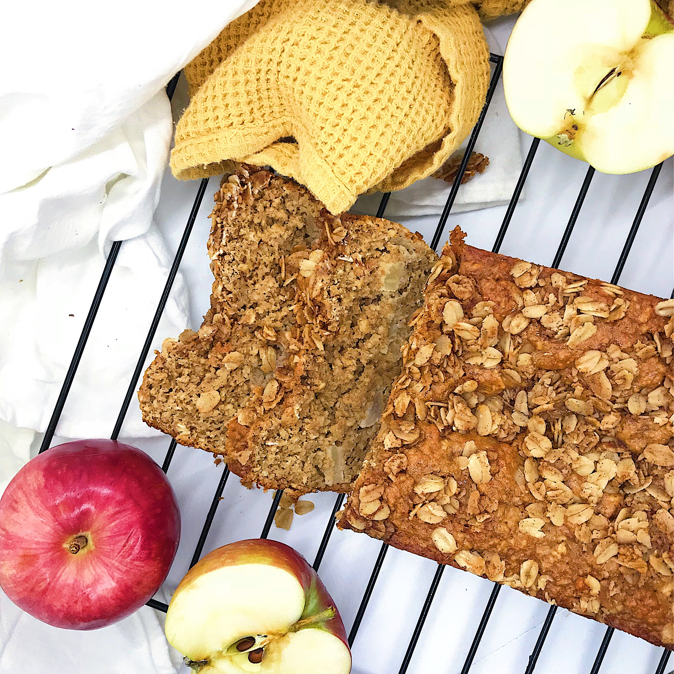 Healthy apple cinnamon bread that tastes unhealthy. So moist and tasty but all clean ingredients.