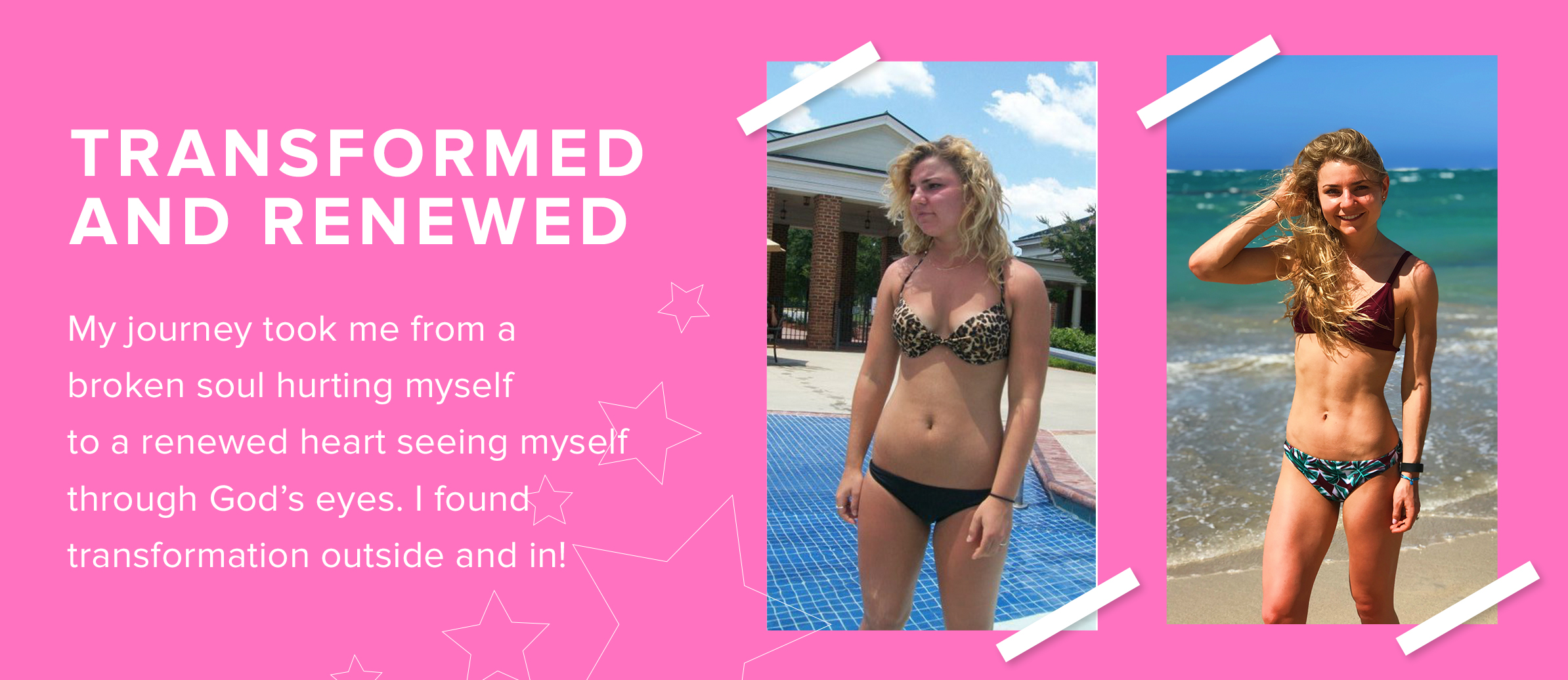 Fitstagram Michelle lost weight and found self-love when she case herself through God's eyes.
