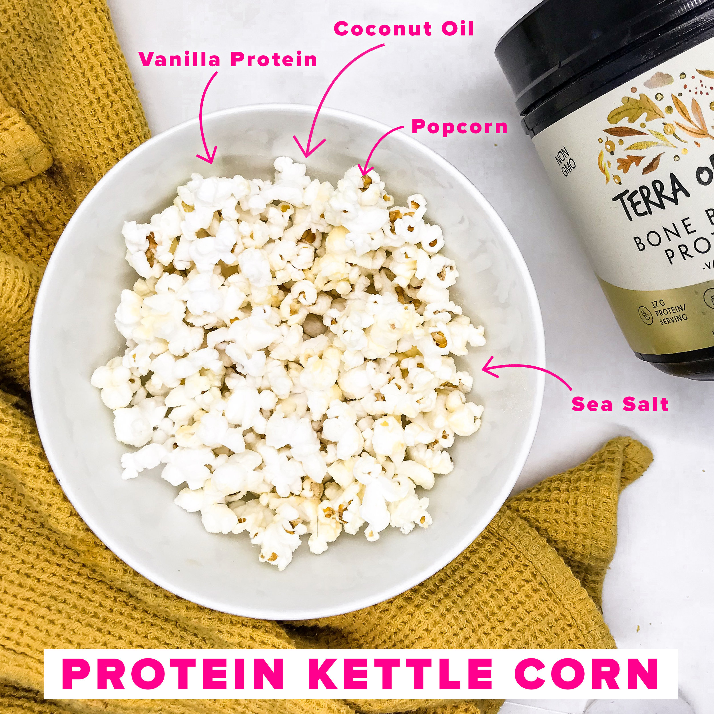 Protein Kettle Corn - Healthy snack options by Fitstagram Michelle