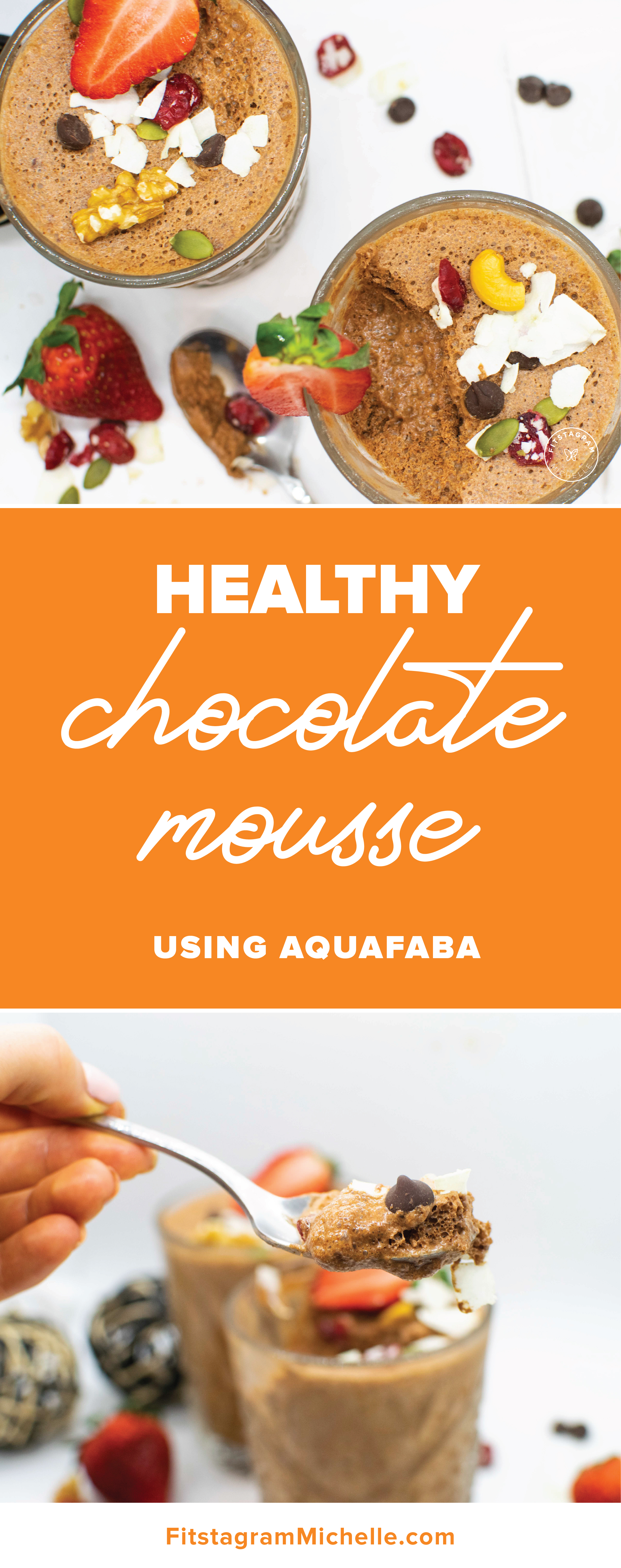 Healthy dark chocolate Mousse! Dairy-free and vegan! These are the perfect treat without the guilt.