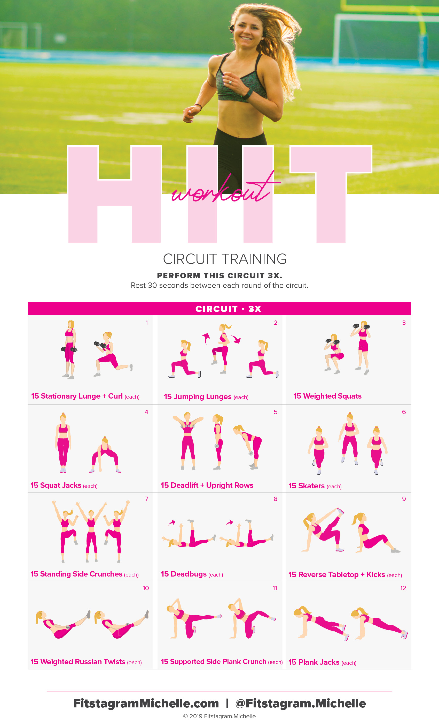 Get sweaty with this HIIT workout when you're short on time. These 12 moves increase lean muscle mass, promote fat loss, and , and reveal lean gorgeous muscles. A women's HIIT workout to boost belly fat loss. #fatloss #weightloss #hiit