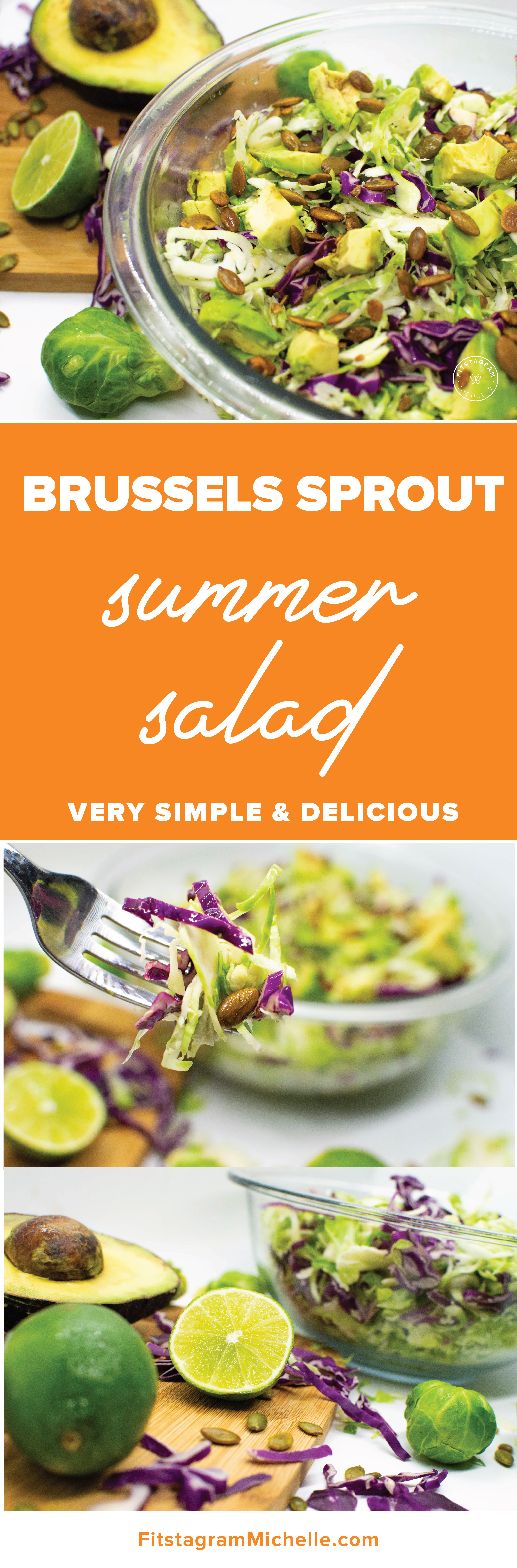 Healthy and simple salad that is nutritious and delicious! This 4 ingredient salad includes avocado and lime for a summery taste.
