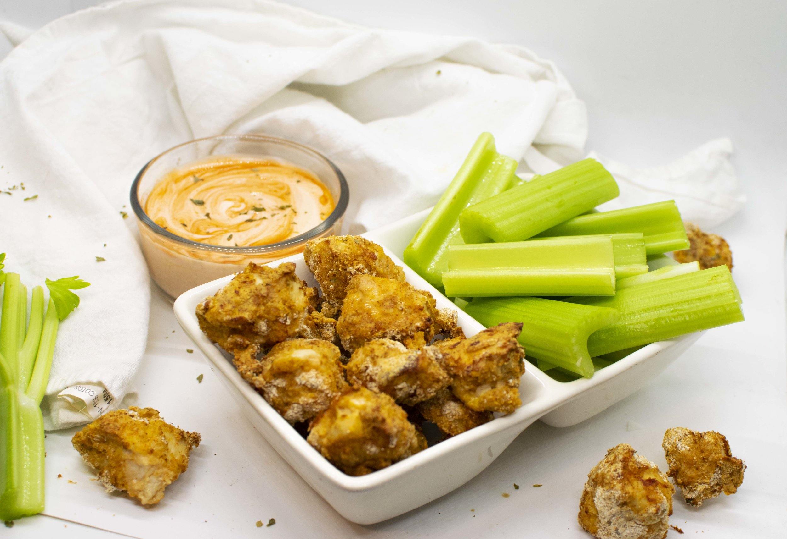 Healthy Buffalo Chicken Nuggets