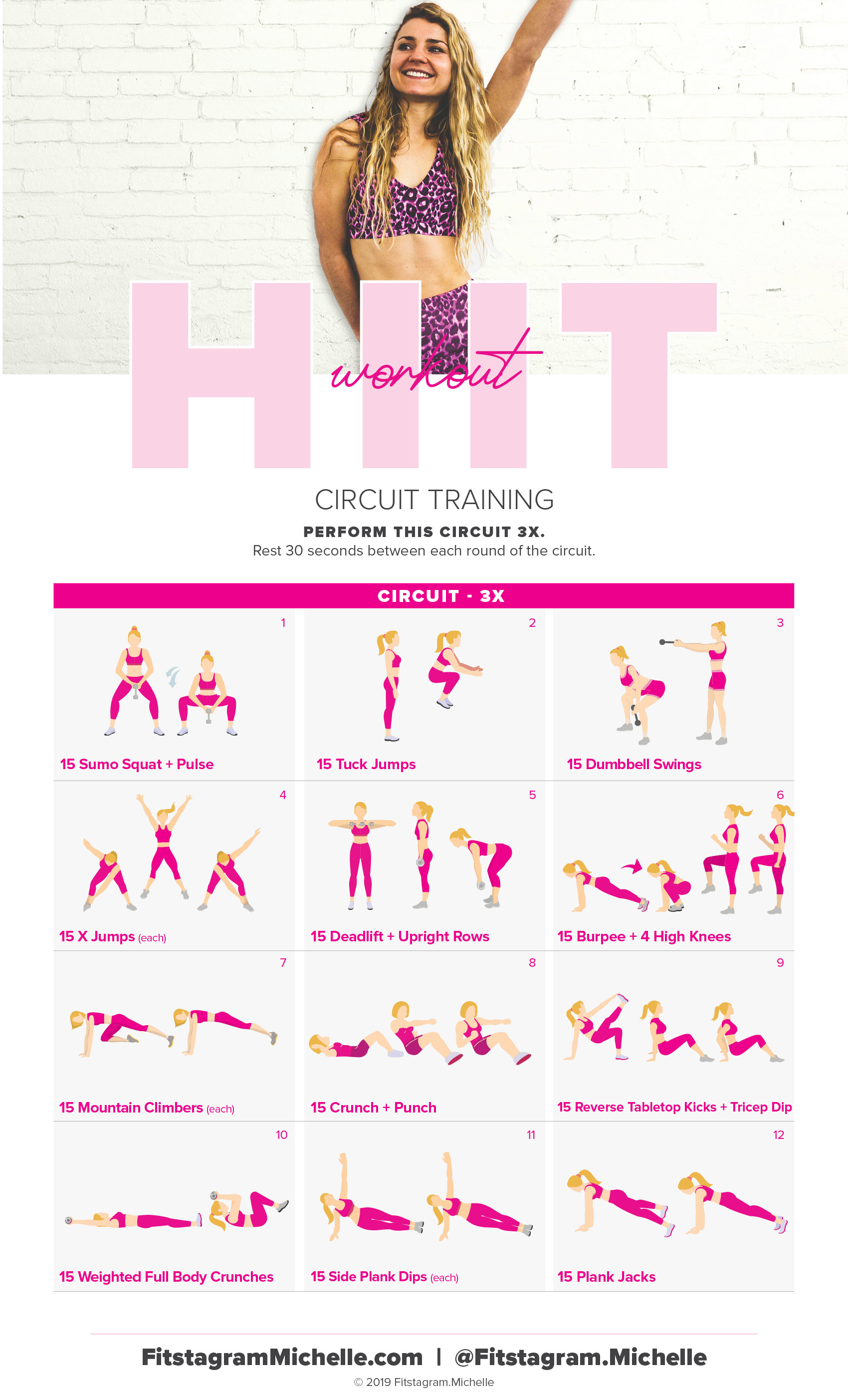 Try this HIIT workout for a total body workout. HIIT will burn body fat, tone you from head to toe, and get that bikini body. #womensfitness #weightloss #abworkout #HIITworkout #hiitcardio
