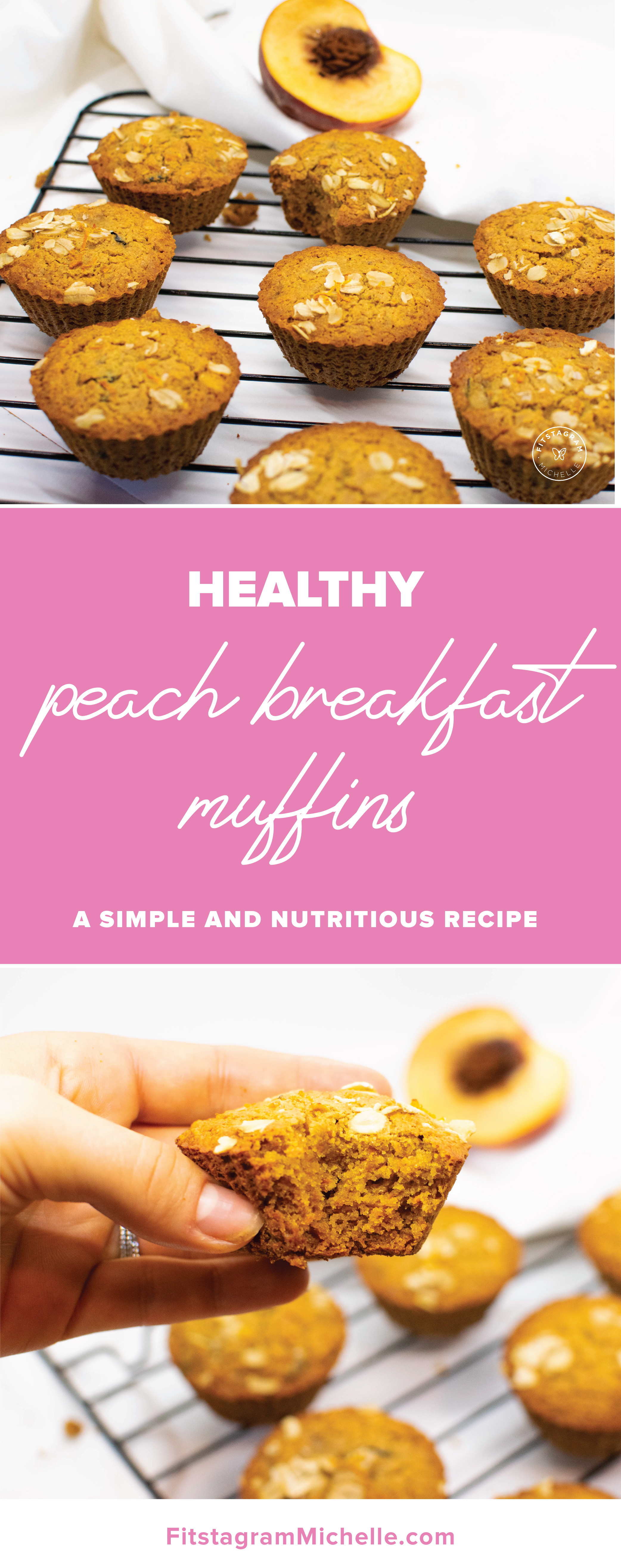 Healthy peach breakfast muffins - perfect for breakfast or snack. These are dairy-free, gluten free, and butter free.