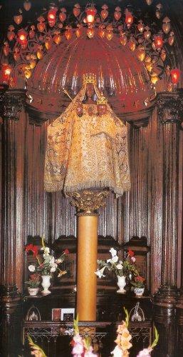 dressed on her pillar, before restoration