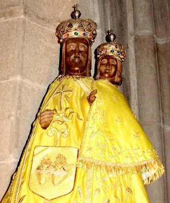 the 2nd incarnation of the Black Madonna of Murat (1986-2008)