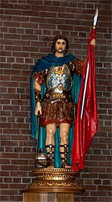 a very diferent St. Maurice statue in Ottawa, Canada