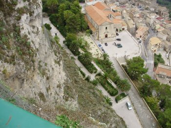 View from Chiesa Madre down the cliff Gogala to San Agostino