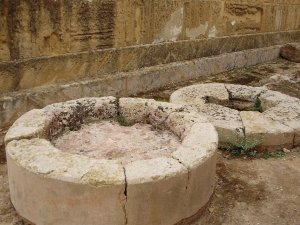 sacrificial altars of Demeter next to church