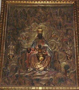 Olot, copy of Black Madonna of Montserrat in Sant Esteveg