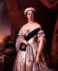 Queen Victoria wearing the garder on her left wrist