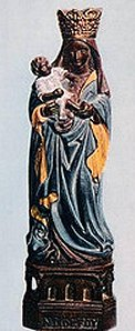 a copy portraying  Our Lady of Foy  as black