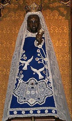 Wearing her dove dress