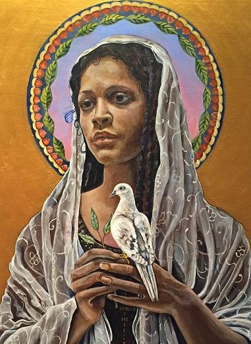 The Black Madonna with Dove