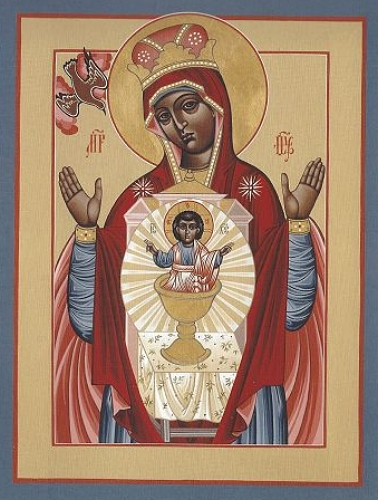 Black Madonna Your Lap Has Become the Holy Table