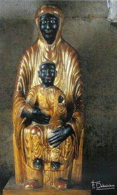 Nuestra Señora de la Buena Muerte (Notre Dame de la Bonne Mort), siglo XII, Clermont-Ferrand, Francia, descubierta en 1972 en la capilla mortuoria de un obispo.