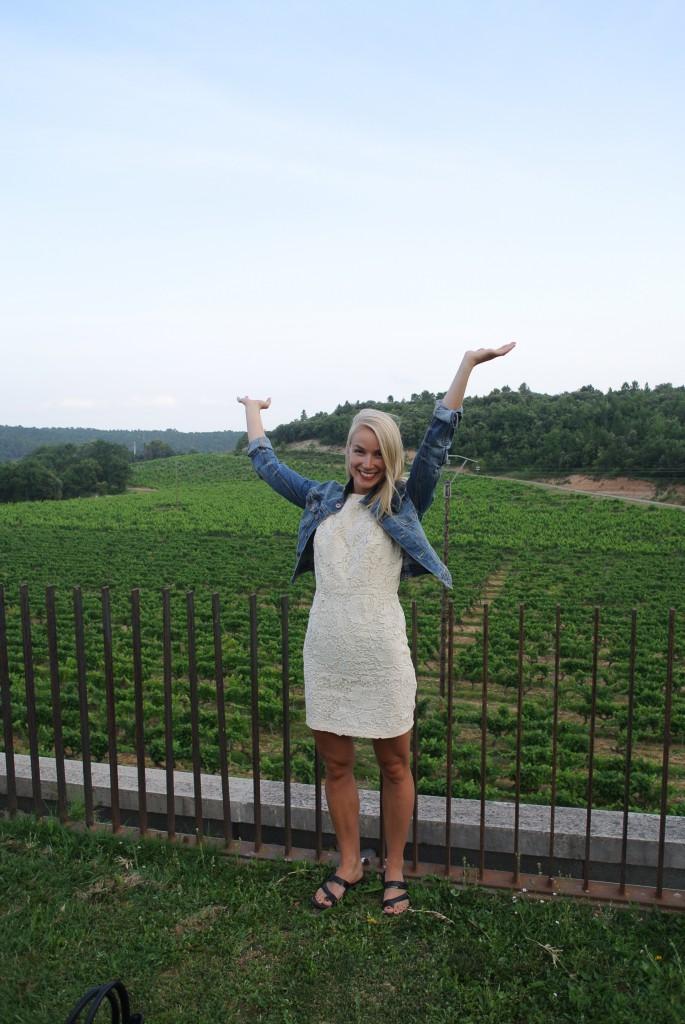 Svært kjekt å besøke vinmarka til Château Thuerry. Foto: Regine Sæther