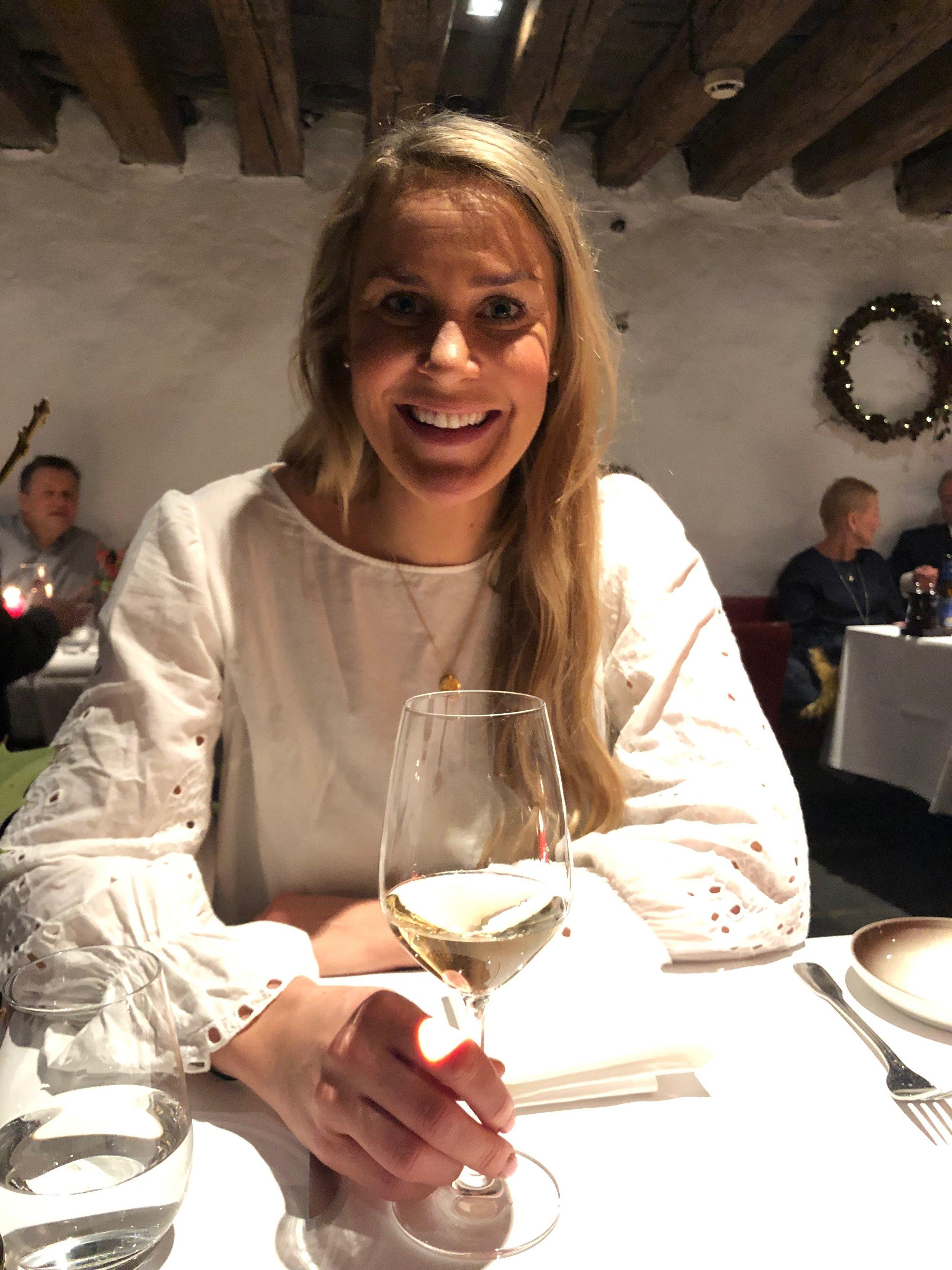 Middag på Altona i Bergen med Torunn Ytrehus.