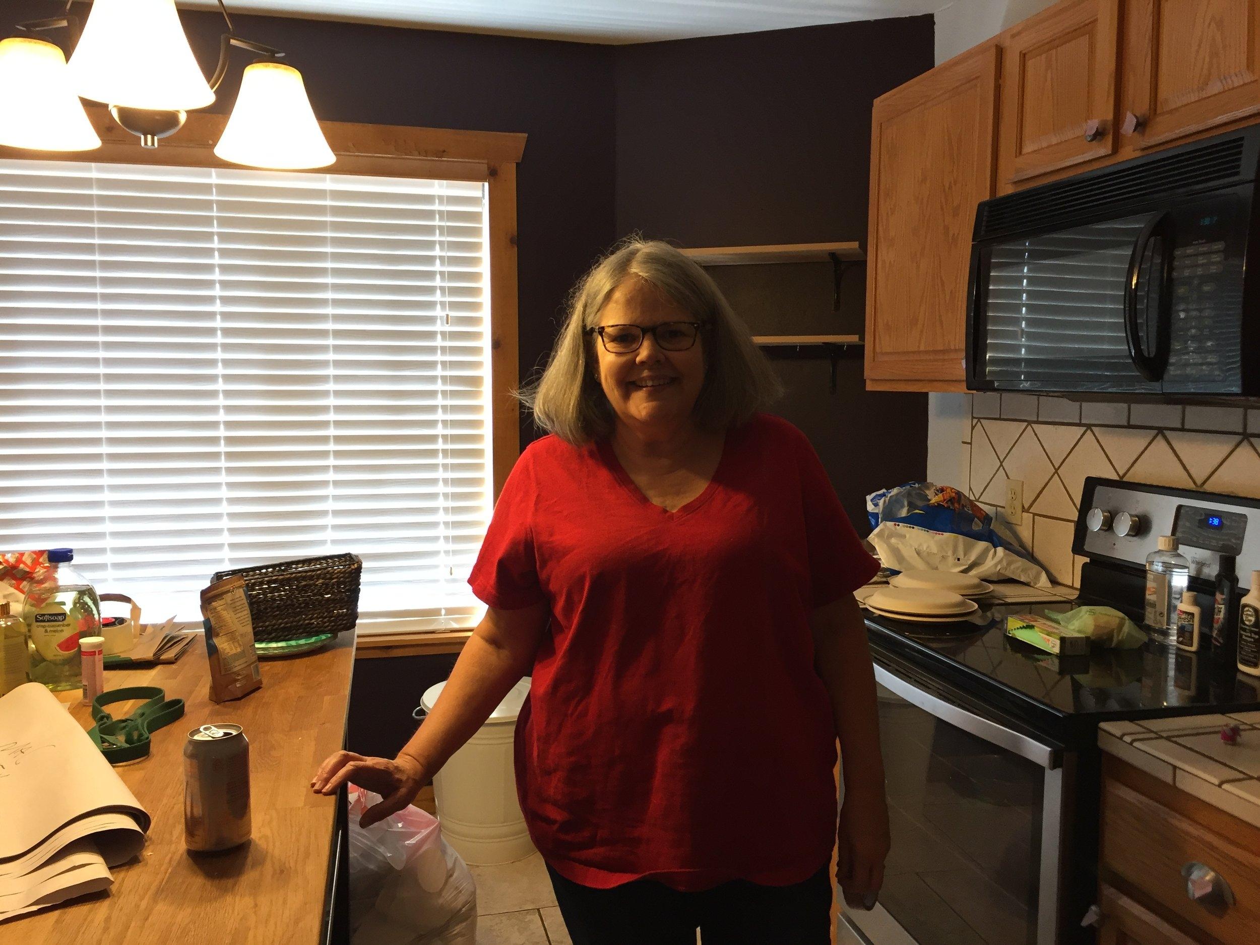 Cessie cleaning my kitchen