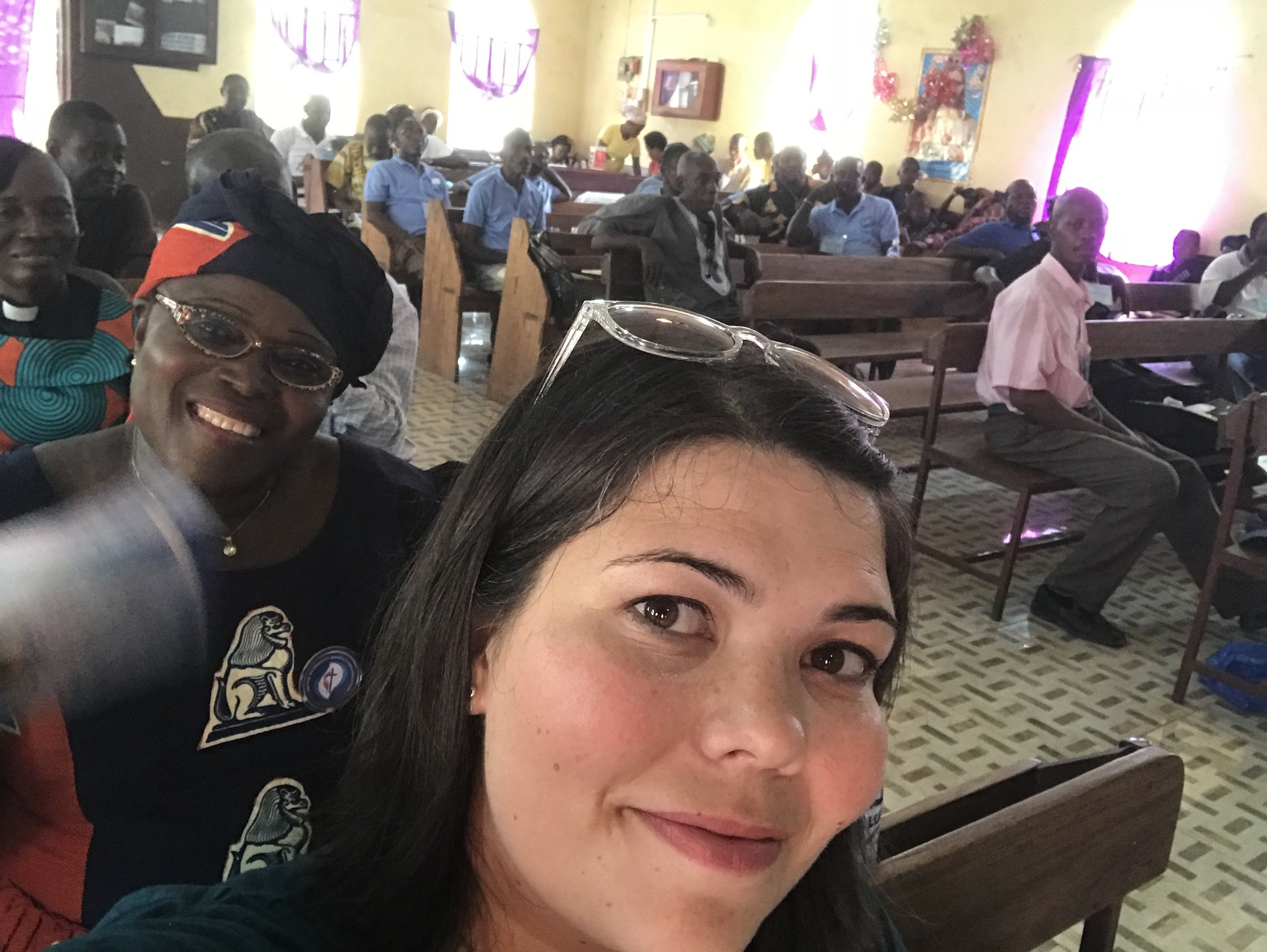 Bringing selfies to Salone. This was at the beginning of the weekend on a work day. I expect, just like church, that it filled up slowly over time.