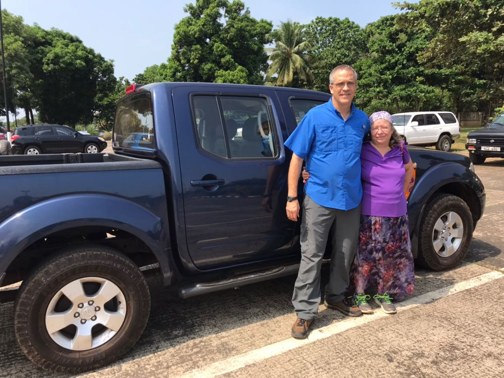 The Lutheran missionaries who sold me the truck. They were so kind. And they showed me a few places in Freetown that feel a little bit like home.