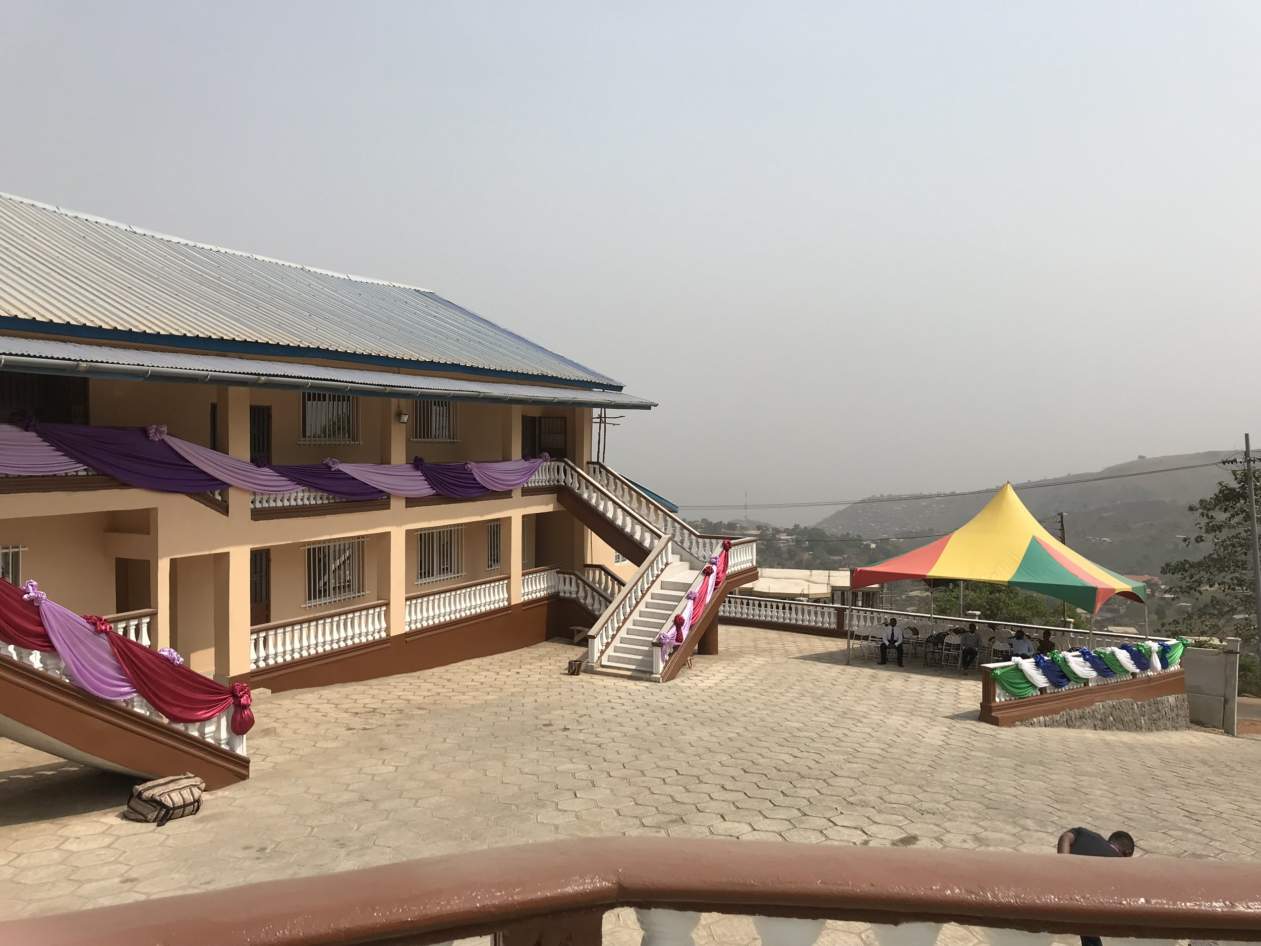 The UMU Bishop Wenner School of Theology from the vantage point of the amphitheater