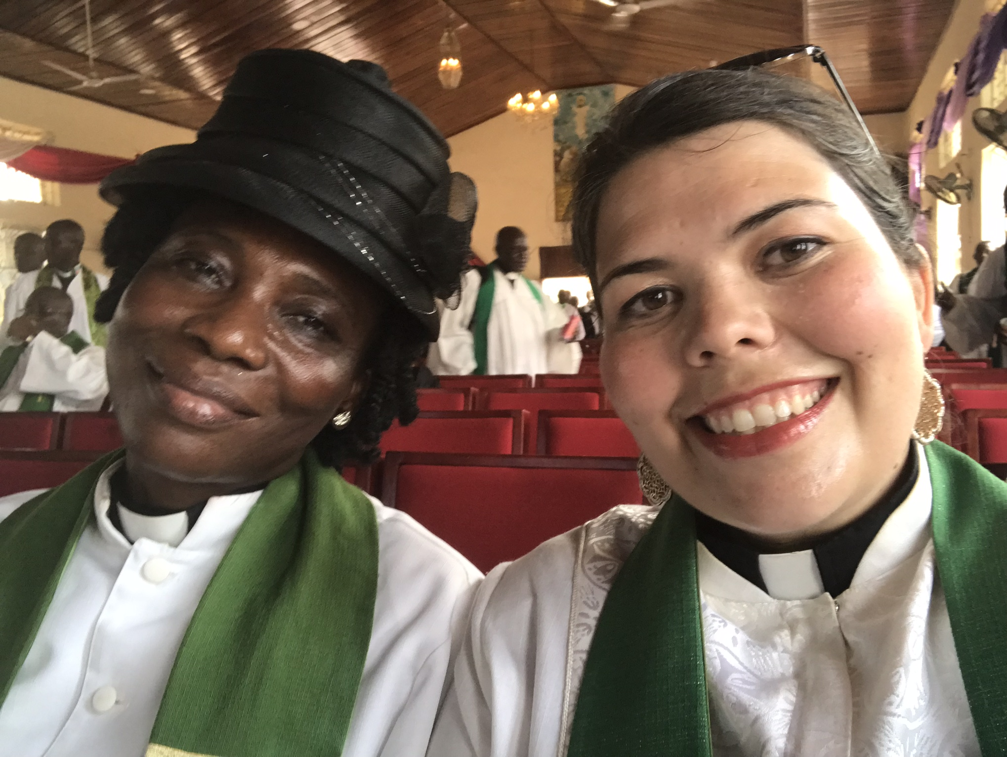 With Rev. Alice Lassayo.  She's a wonderful pastor and has been more than kind to me.
