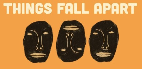 """Cover art for Achebe's """"Things Fall Apart"""""""