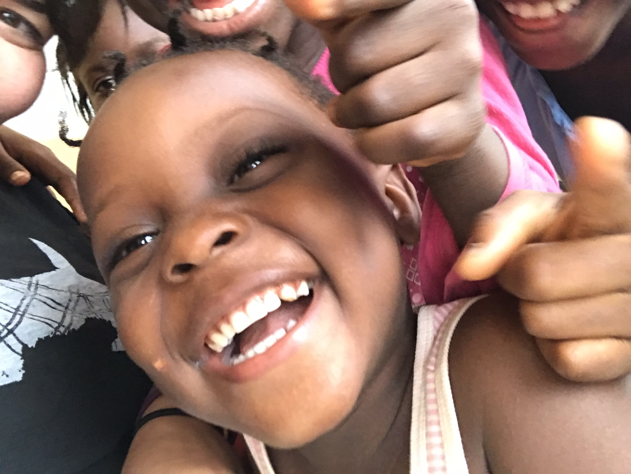 """The camp kids also liked my camera phone.  A lot.  At one point they came and greeted me.  I said hello and we chatted a bit.  And then there was an awkward silence until one of them blurted out, """"Selfie!"""""""