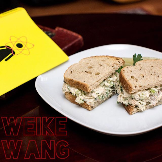 "— WEIKE WANG! . ""Chicken salad sandwich!"" - #weikewang . 🐓 🥗 🍞 . #weikewang #chemistry #knopf  #thesignaturesandwich #sandwich #readbookseatsandwiches #poetsandprosers #yourfavoritewriterstheirfavoritesandwiches  #bookstagram #igbooks #instabooks #bibliophile #ilovebooks #read #readabookinstead #books #chicken #chickensalad #sandwiches #sandwichesofinstagram"