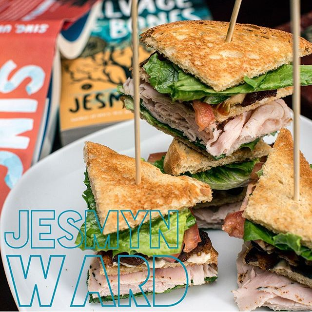 Sing, Turkey Club, Sing! . A delicious throwback to @therealjesmynward 's sandwich. Like her writing: timeless, layered, complex though simple, each jaw-unhinging bite—like her sentences—leaves you impatient for the next. I'm currently working through my lunch break, dreaming of Jesmyn's next book and longing for her Signature Sandwich. . #jesmynward #singunburiedsing  #salvagethebones #menwereaped  #thefirethistime #scribner #scribnerbooks  #thesignaturesandwich #sandwich  #readbookseatsandwiches #book  #turkeyclub #clubsandwich #read #bookstagram #bibliophile #reading  #ilovebooks #igbooks #instabooks  #readabookinstead #poetsandprosers #eatasandwichandgetbacktowork #books  #yourfavoritewriterstheirfavoritesandwiches