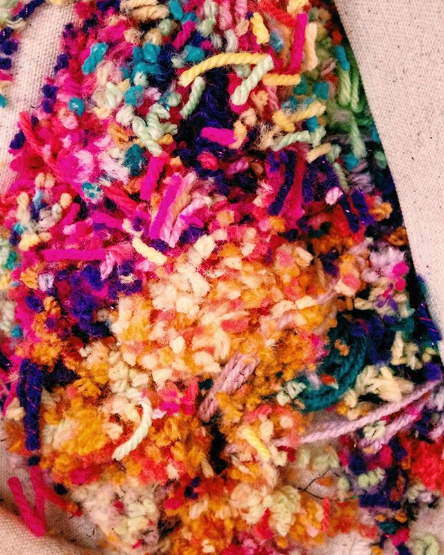 Pompom detrius ✂️ #workshops #pompom #yarn #handmade #colour #bestival