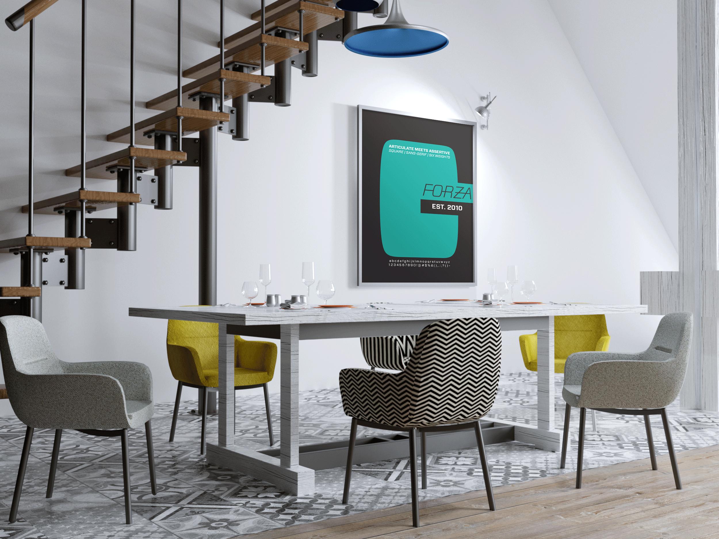 FORZA - Logo Design & Typeface Specimen Sheet