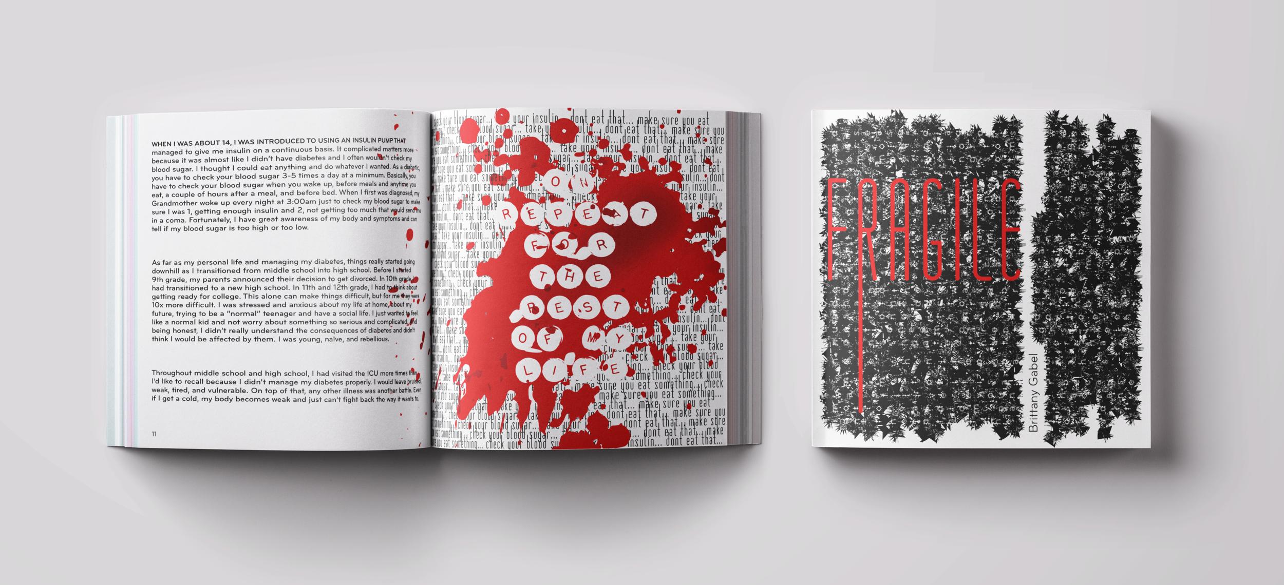 FRAGILE - Typography Book Design