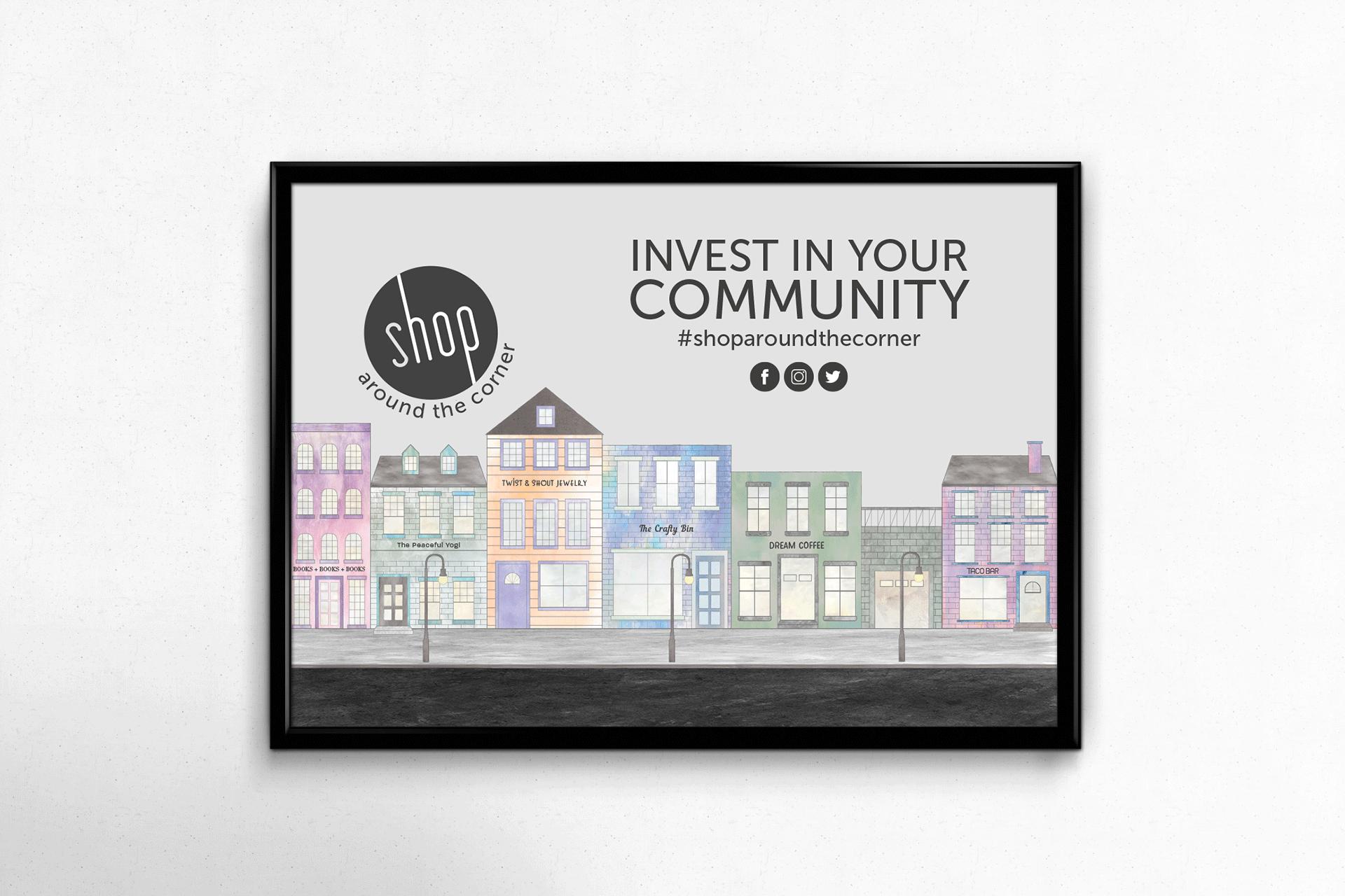 SHOP AROUND THE CORNER - Social Awareness Campaign Design