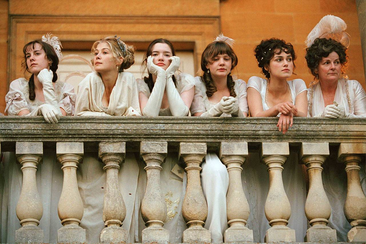 The Bennet sisters and their mother (far right) in white nightgown-esque dresses in the 2005 film version of Jane Austen's 'Pride and Prejudice.' PHOTO: EVERETT COLLECTION c/o The Wall Street Journal