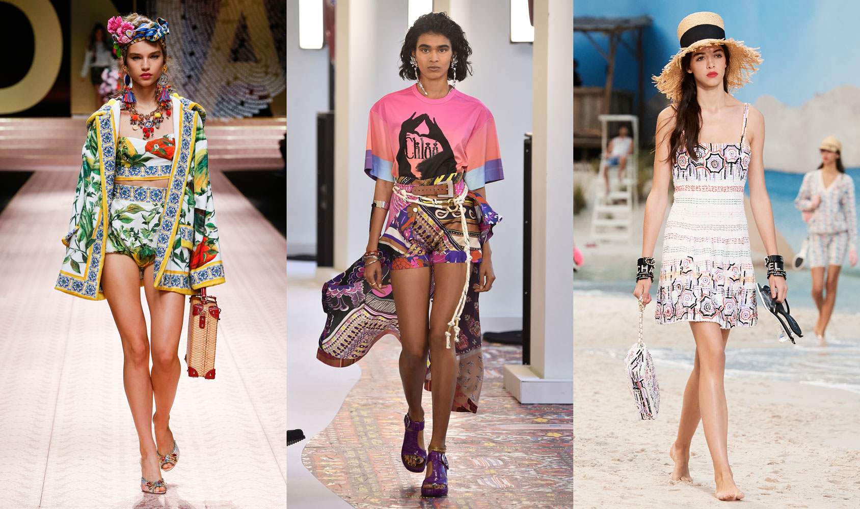 Dolce & Gabbana Spring 2019, Chloe Spring 2019, Chanel Spring 2019