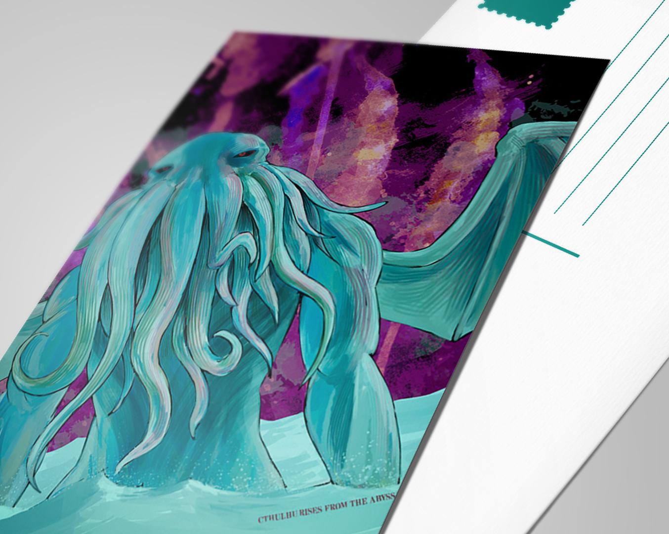 CTHULHU CREATURE POSTCARDS  // Print Design, Illustration