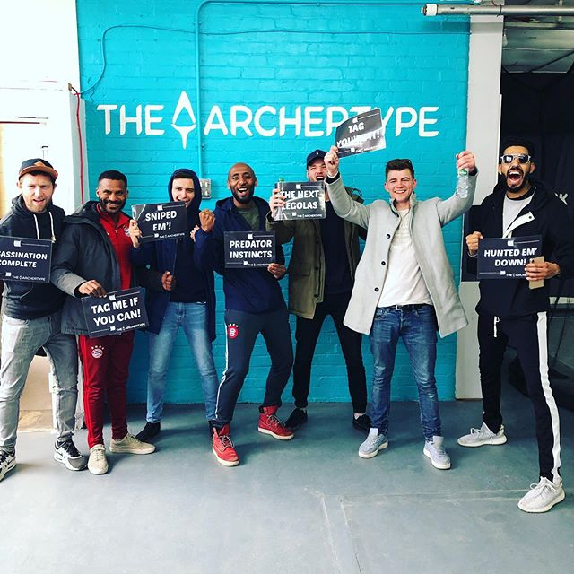 "Shoutout to these boys from Amsterdam who came all the way to Manchester to celebrate a Stag! They were really good and say they don't like it when tourists can't ride bikes properly in the Dam 😅😂 we host lots of stags and hens for their ""special"" day - know anyone getting married soon? Send em our way! #archerytagmanchester #stagdo #manchester #stag #amsterdam #boys #combatarchery #hendomanchester #stagdomanchester"