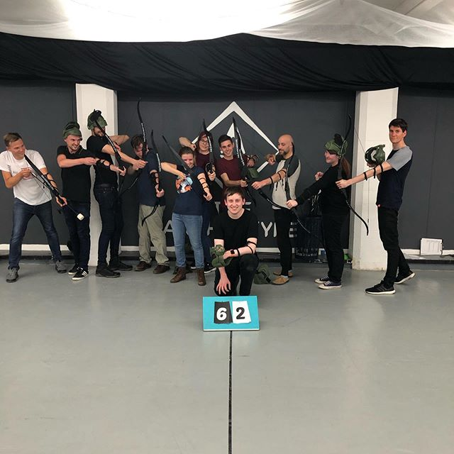 Leaving do? We got the perfect thing for you! Send your ex-colleague/ friend out with style! A firing squad of foam tipped arrows! #archerytagmanchester #combatarchery #thingstodoinmanchester #leavingparty